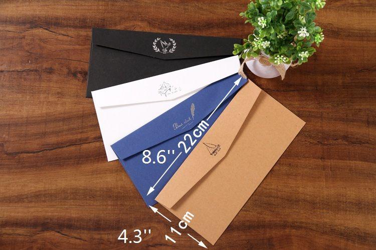 6 Tasarımlar başına Karışık Davetiye için Zarflar Kart, Tebrik Kartı veya İş Davetiye Zarfı, 4.3 * 8.6 inç