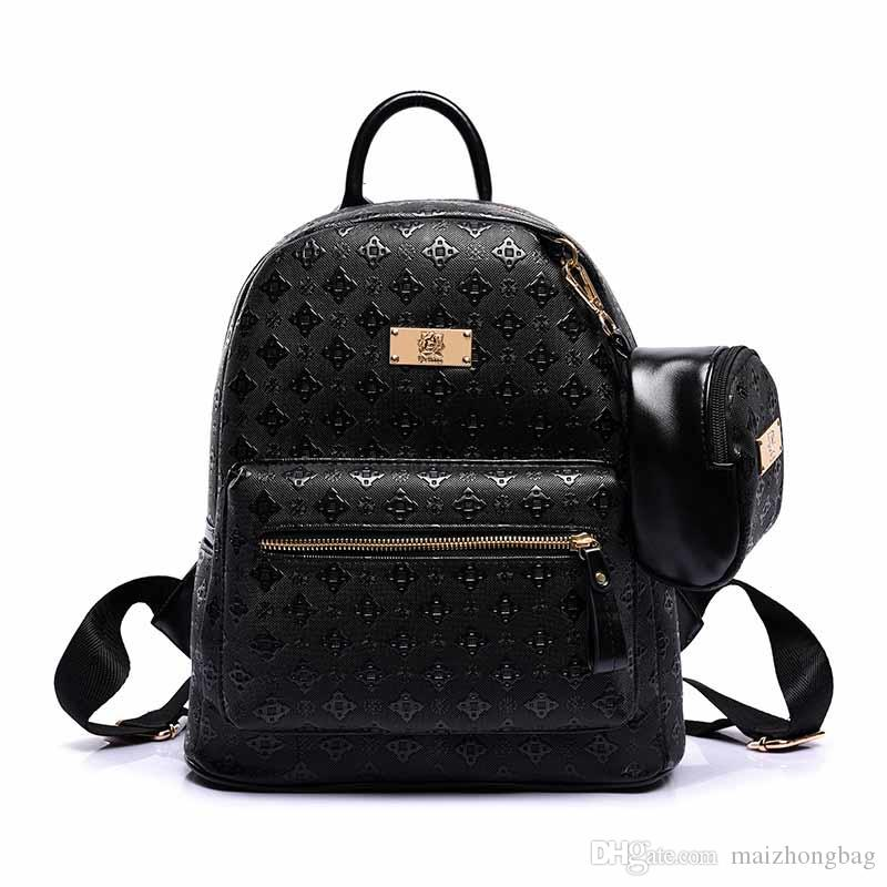 905d01e9a0 Fashion Designer Bags New Arrival 2017 High Quality Pu Leather Women  Backpack Travel Bags Women School Backpack Backpacks For School Laptop  Backpacks From ...