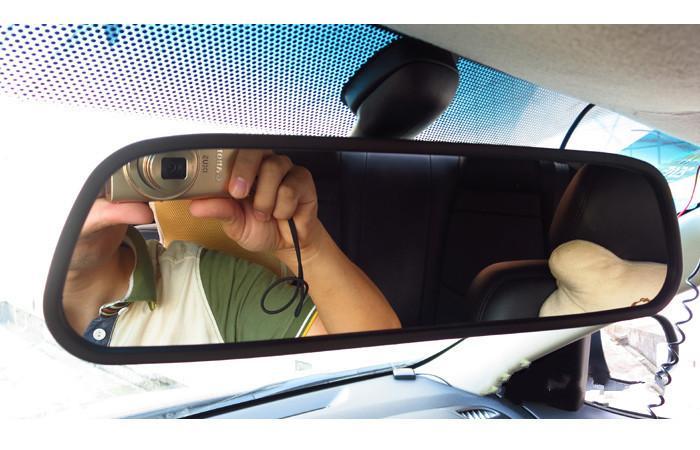 HD Video Oto Park Monitör, LED Gece Görüş Reversing CCD Araba Dikiz Kamera Ile 4.3 inç Araba Dikiz Aynası Monitör