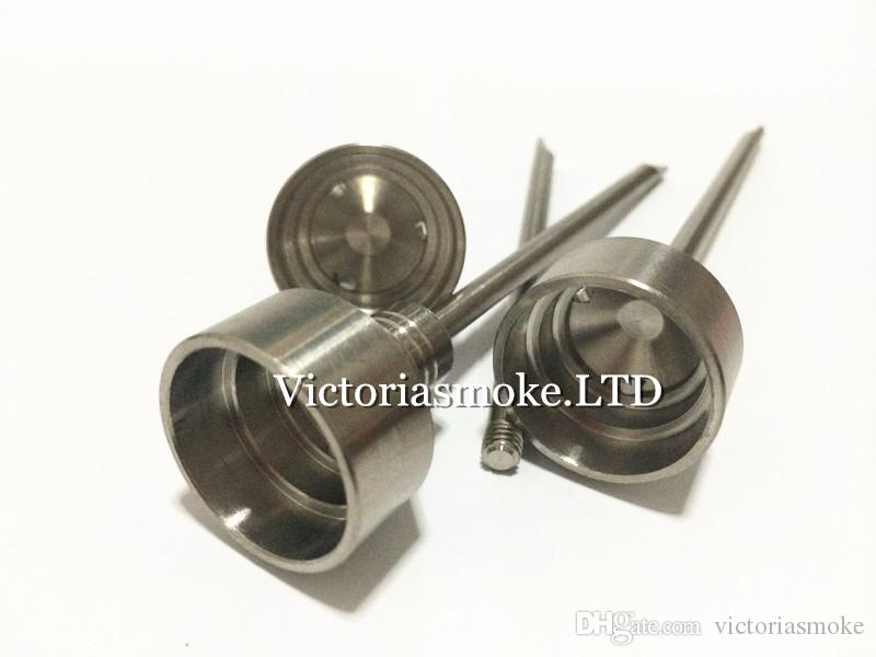Hot Selling GR2 Titanium Nail Titanium Carb Cap with Titanium dabble on top with three angled hole for 10mm 14mm 18mm