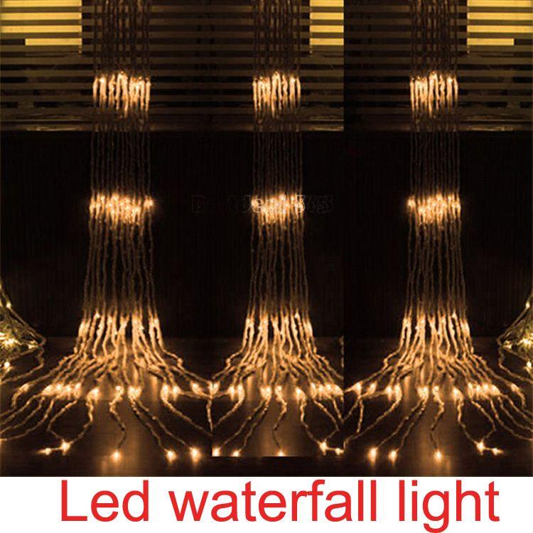 cheap new ac110v220 240v led light net lamp christmas decoration outdoor building waterfall led light led string light party holiday lighting globe string