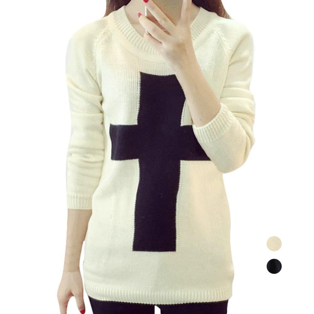 S5Q Winter Women Long Sleeve Round Neck Knitted Crochet Tricotado Casual  Sweater AAAFLW Winter Sweaters Short Sweaters Outwear Sweaters Online with  ...