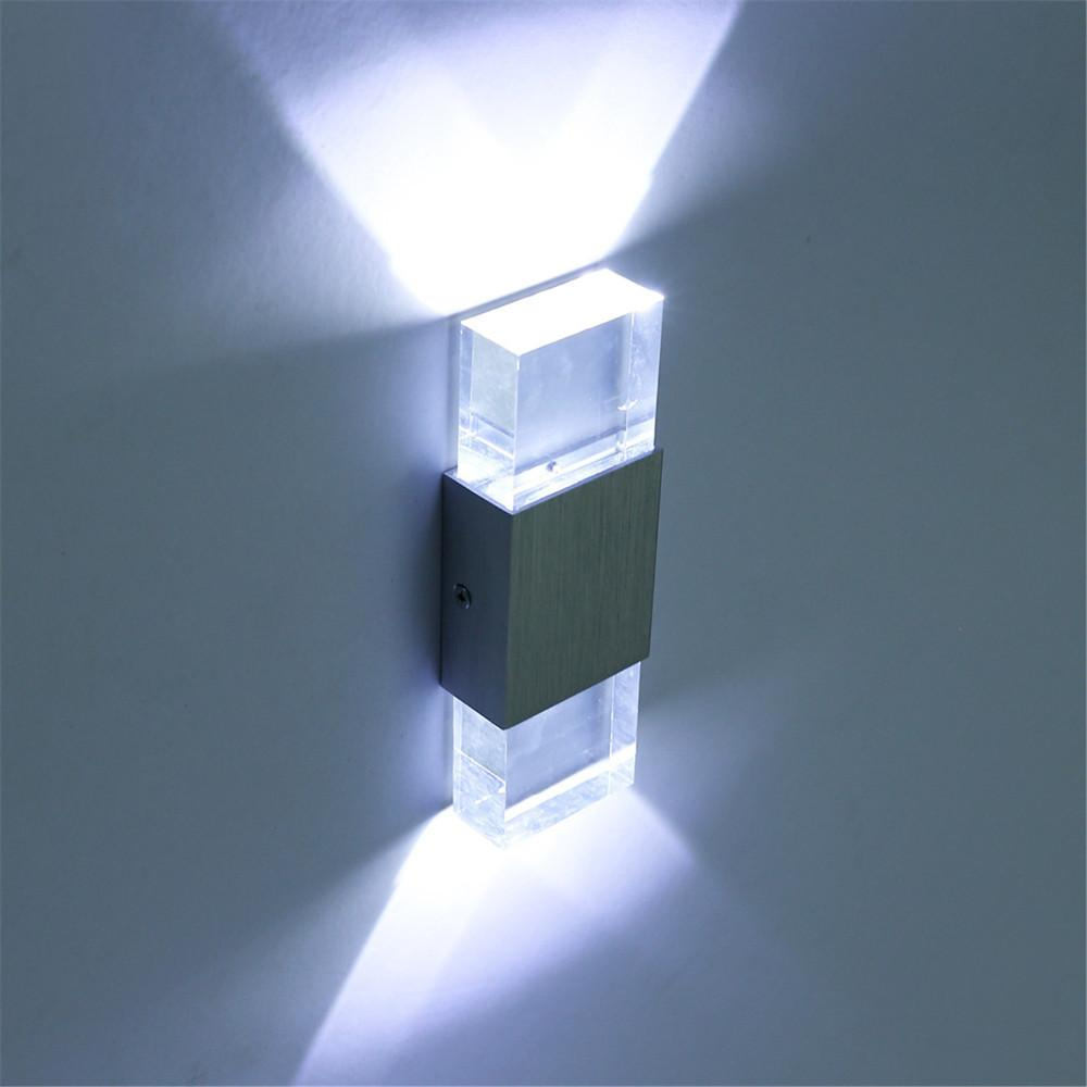 220V Modern 4W Led Wall Light Bathroom Light High Quality Aluminum Case,  Acrylic Crystal Wall Lamp Bedroom Living Room House Wall LED Wall Light  Wall Light ...