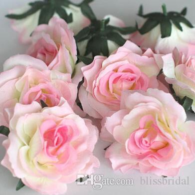Pas chers 10 cm Fleurs artificielles Fournitures de mariage décorations fabriquées à la main Fleur unique pétales colorés Livraison gratuite