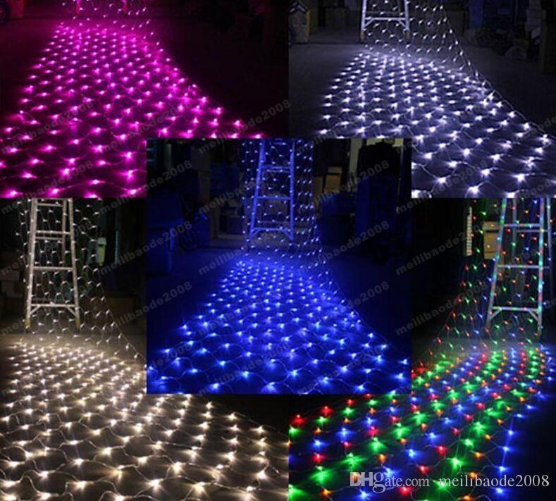 Alta Potência Azul 200 LED 2 m * 3 m Net light Net Malha Luzes De Fadas Twinkle Iluminação de Casamento de Natal FRETE GRÁTIS MYY1662