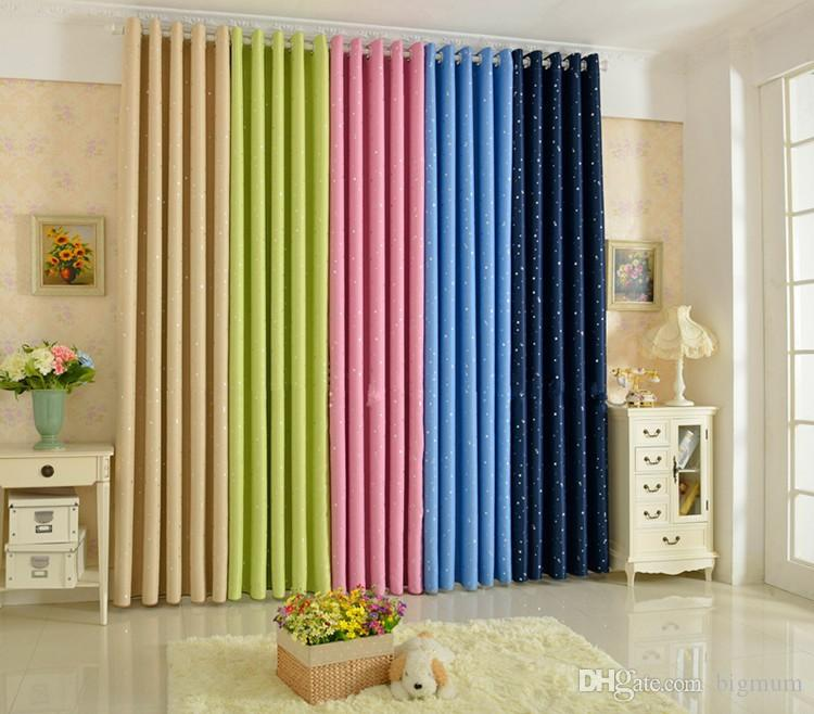 2019 Summer StyleFashion Window Curtain Solid Finished Products Blackout  Curtains For Dining Room/Kitchen Stars Navy Blue From Bigmum, $16.93 | ...