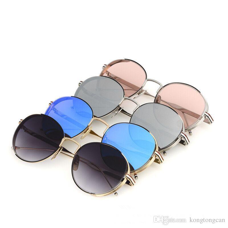 3774d0834 Vintage Fashion Sunglasses Thom Browne TB 106 Women Man Brand Design Round  Original Box And Case Polarized Lens Top Quality Reading Glasses  Prescription ...