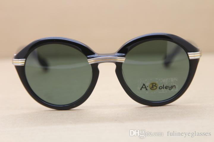 2020 النظارات الشمسية الساخنة 1991 الأصلي جولة بلانك نظارات 1125072 الأزياء النظارات الشمسية رجل نظارات ج الديكور الذهب الإطار الحجم: 52-22-135mm