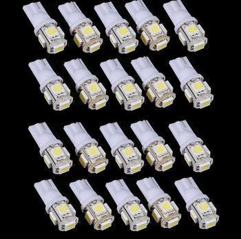 100 STÜCKE T10 5SMD 5050 Xenon LED glühbirnen W5W 194 168 LED Weiß Auto Side Wedge Rücklicht Lampe