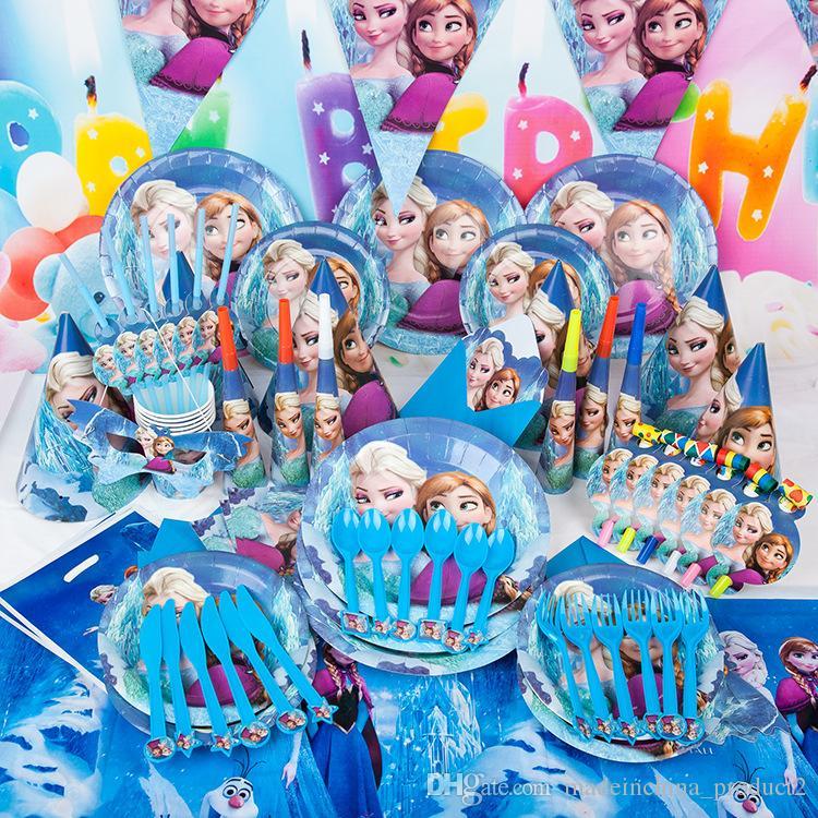 Frozen Decoration Supplies Anna Elsa Olaf Theme Paper Plates Party