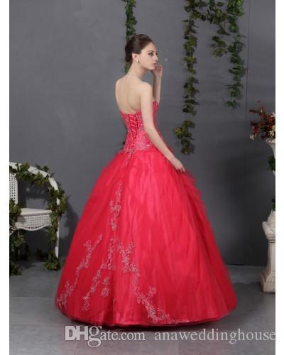 Wassermelone quinceanera kleider schatz stickerei vestidos de festa zurück lace up ballkleid prom kleider 2015 für sweet 16 jahre