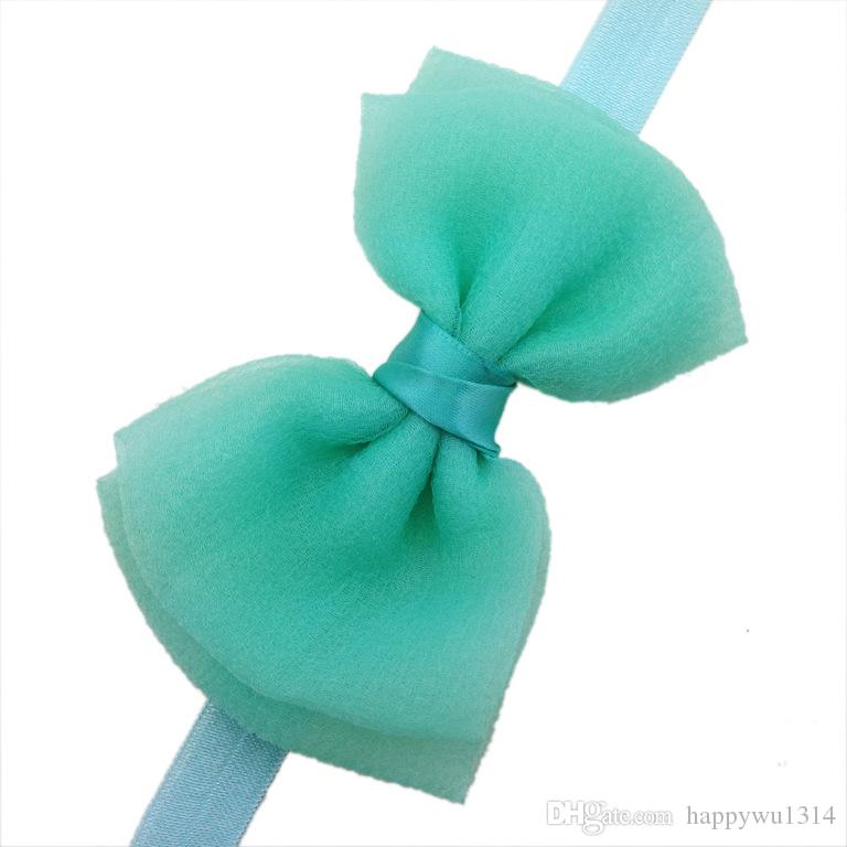 2015 Korean seersucker Material headband baby girls headbands hair bows tie style Children's hair accessories kids Christmas Gifts