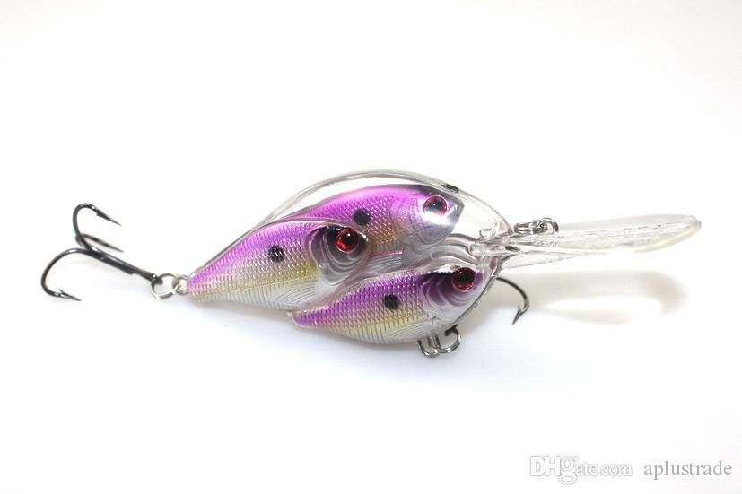 도매 Bionic Fish Shoal 낚시 하드 미끼 플라스틱 3D 눈 크랭크 베이트 6.5cm 18g 저음 낚시