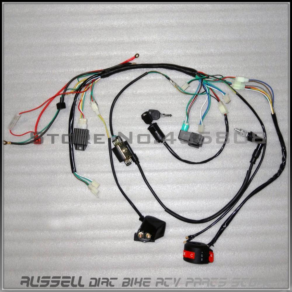 Kazuma 70 Redcat Wiring Diagram Golden Schematic Moreover 7 Pin Din Connector On Xlr 2018 Complete Electrics Atv Quad 50cc 70cc 110cc 125cc Coilcdi Harness