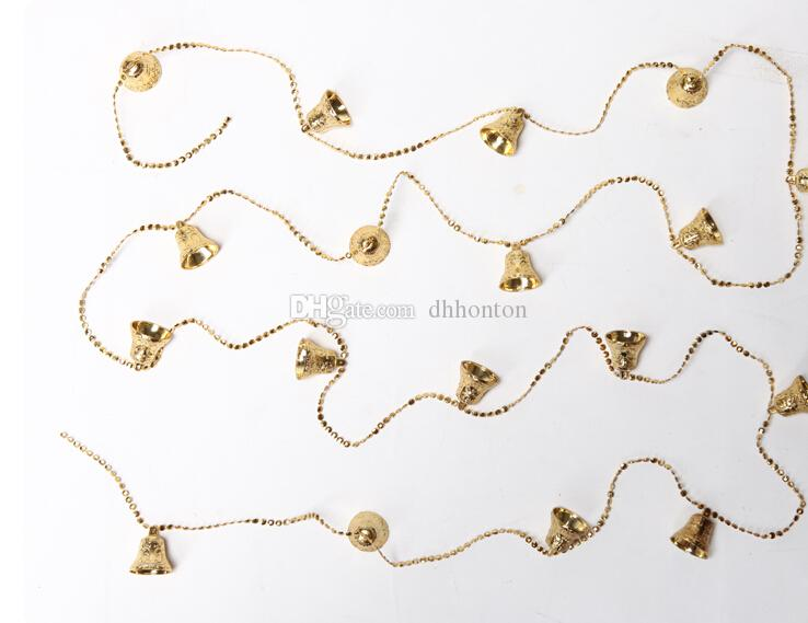A string of decorative Christmas bells about 1.3 meter length PVC JingLing bells for christmas tree about 5cm diameter of bell