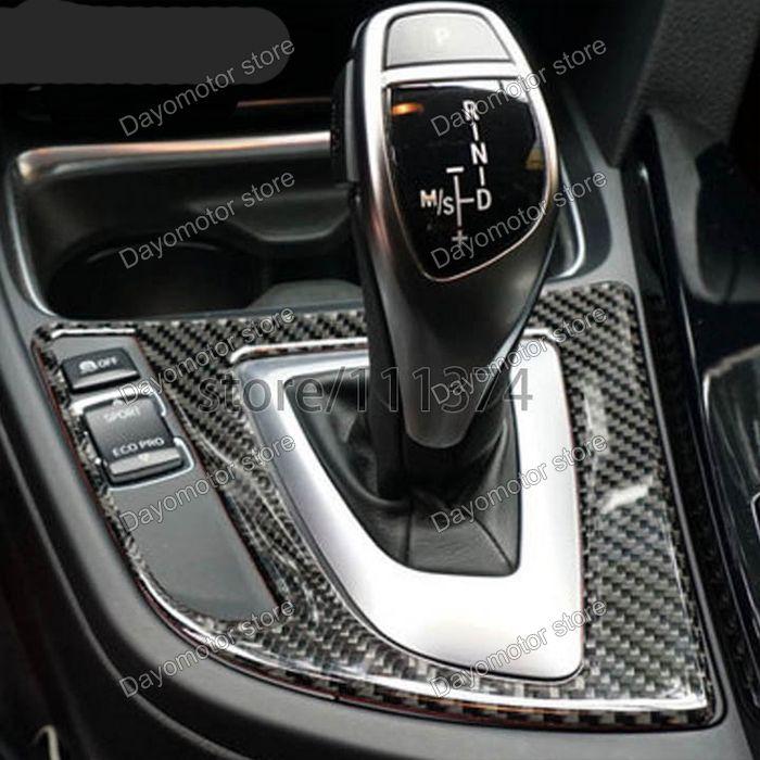 NEW GENUINE CARBON FIBRE AUTO GEAR SHIFT TRIM FOR MOST BMW /'F/' SERIES MODELS CS8