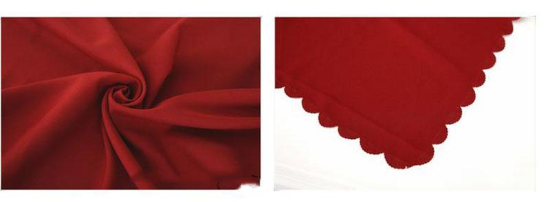Christmas Tablecloths wedding embroidery Table cloth Polyester 140cm*180cm solid colors red dining table covers Banquet Holiday decoration