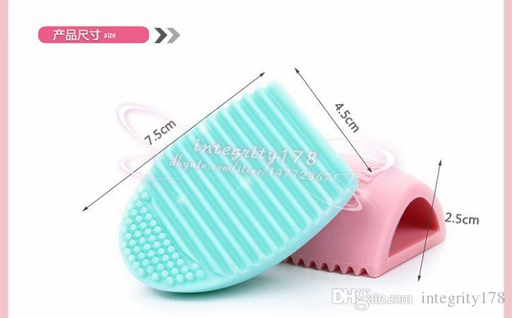 Brushegg Pro Egg Cleaning Glove Cleaning Maquillaje Cepillo de limpieza Silica Glove Scrubber Board Cosmetic Clean Tools Brush Cleaner