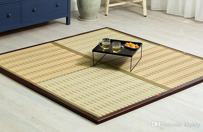 Tm08 Diy Japanese Tatami Mat Four Pieces 4 Mats Set Unit Square 88cm  Traditional Asian Design Zen Floor Mattress Sleeping Panel Carpet Samples  Online Nylon ...