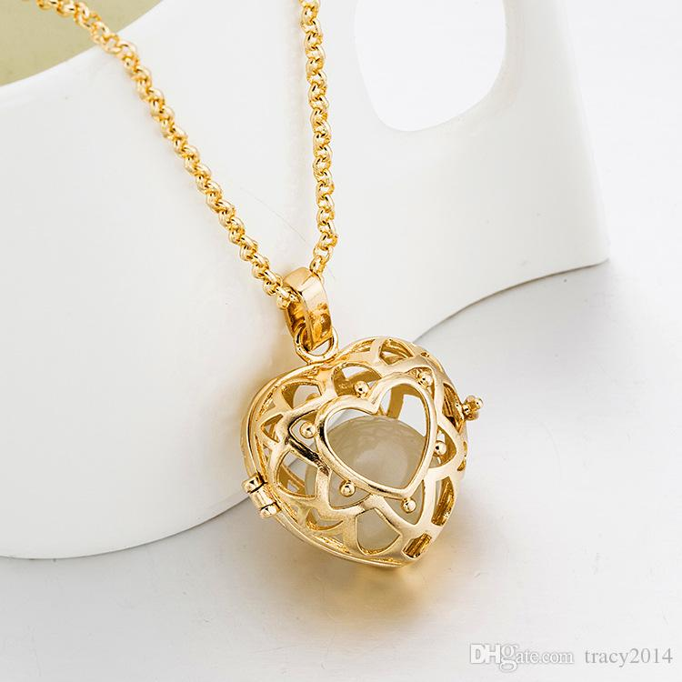 Harmony ball Pregnancy Ball Bola Angel Ball silver 18K rose gold plated Matal heart Pendants hollow pendant Factory direct sales