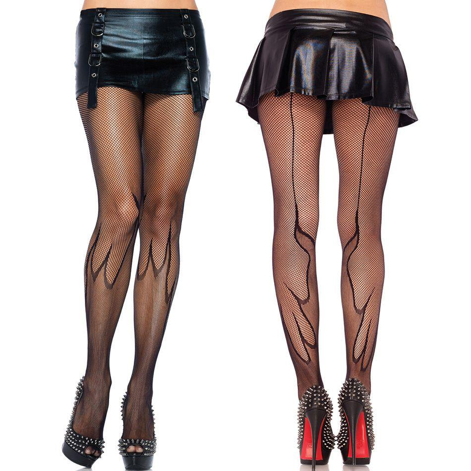 9fe0ab250ca 2014 New   Sexy Women s Fishnet Flame Pantyhose with Backseam Nylon Free  Shipping in One Size Nylon Spandex Stockings