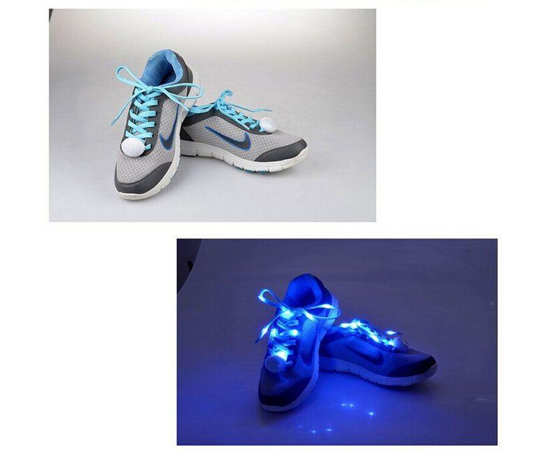 Светодиодные шнурки в 7 цветов вспышка освещения ночь для партии хип-хоп танцы.Очаровательный LED флеш загораются светящиеся шнурки