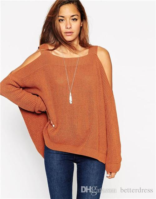 2018 2015 Fall Hot Knit Sweater Women Autumn Winter Sweaters Sexy ...
