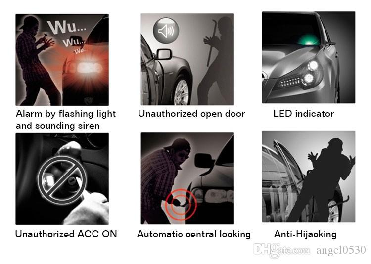 NEW Универсальная HA-100A 1-полосная автомобильная сигнализация Система охранной сигнализации системы безопасности Keyless Entry Siren + 2 Remote Control Burglar