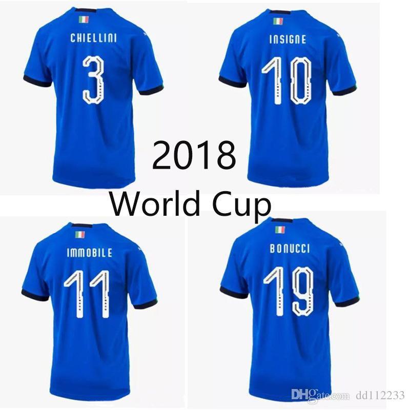 339b9abd09f 2019 Newest 2018 Italia Soccer Jerseys 17 18 WC National CANDREVA CHIELLINI  EL SHAARAWY BONUCCI INSIGNE IMMOBILE Verratti FOOTBALL Home SHIRT From  Dd112233