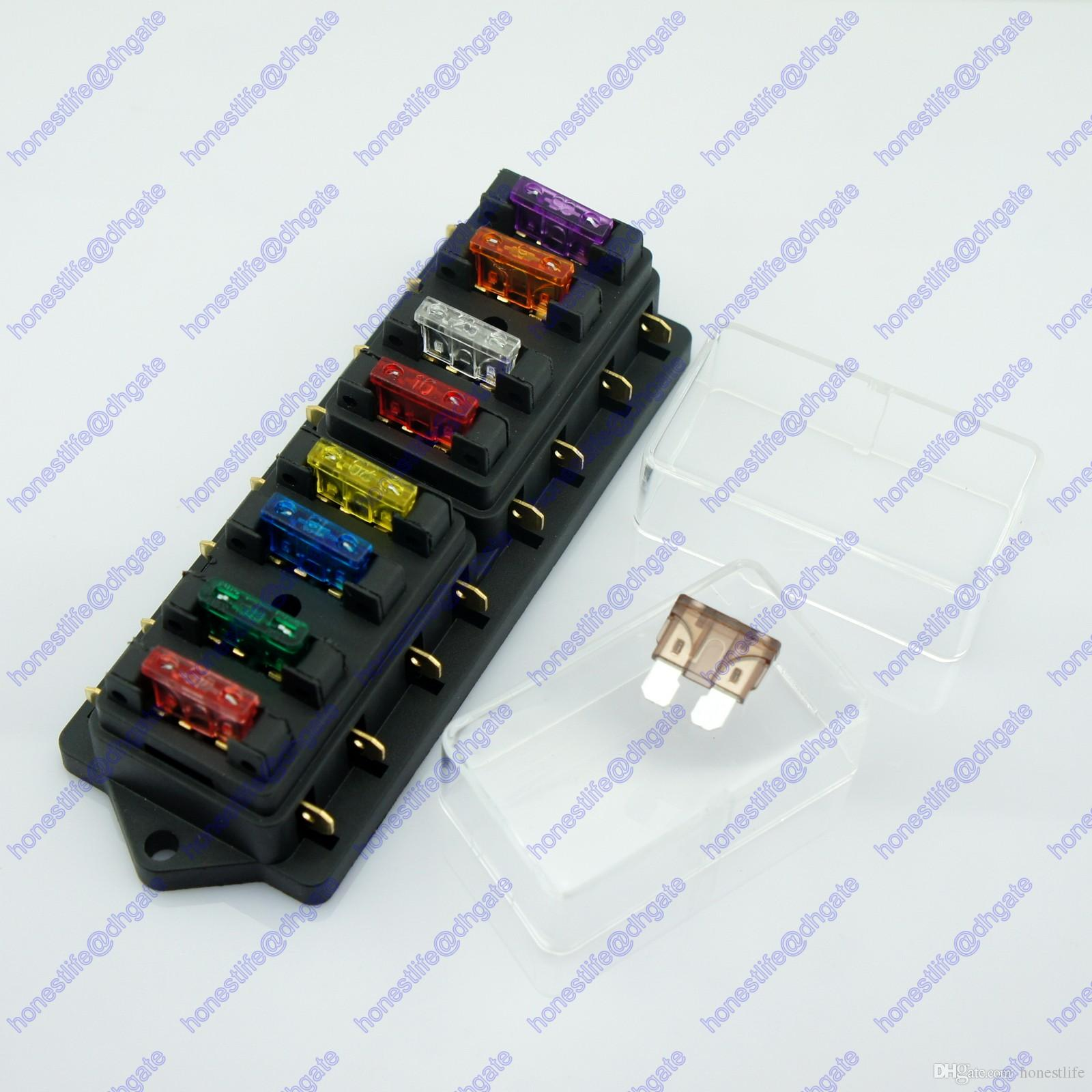 8 way atu standard blade fuse box holder 2017 8 way atu standard blade fuse box holder 12v 24v car truck rv camper fuse box at bayanpartner.co