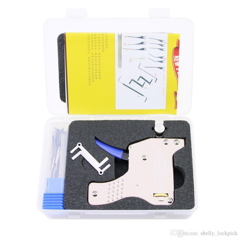 High Quality New Advanced EAGLE Semi-Automatic Mechanical Lock Pick Gun Lock Pick Tool Set for Professional Locksmith