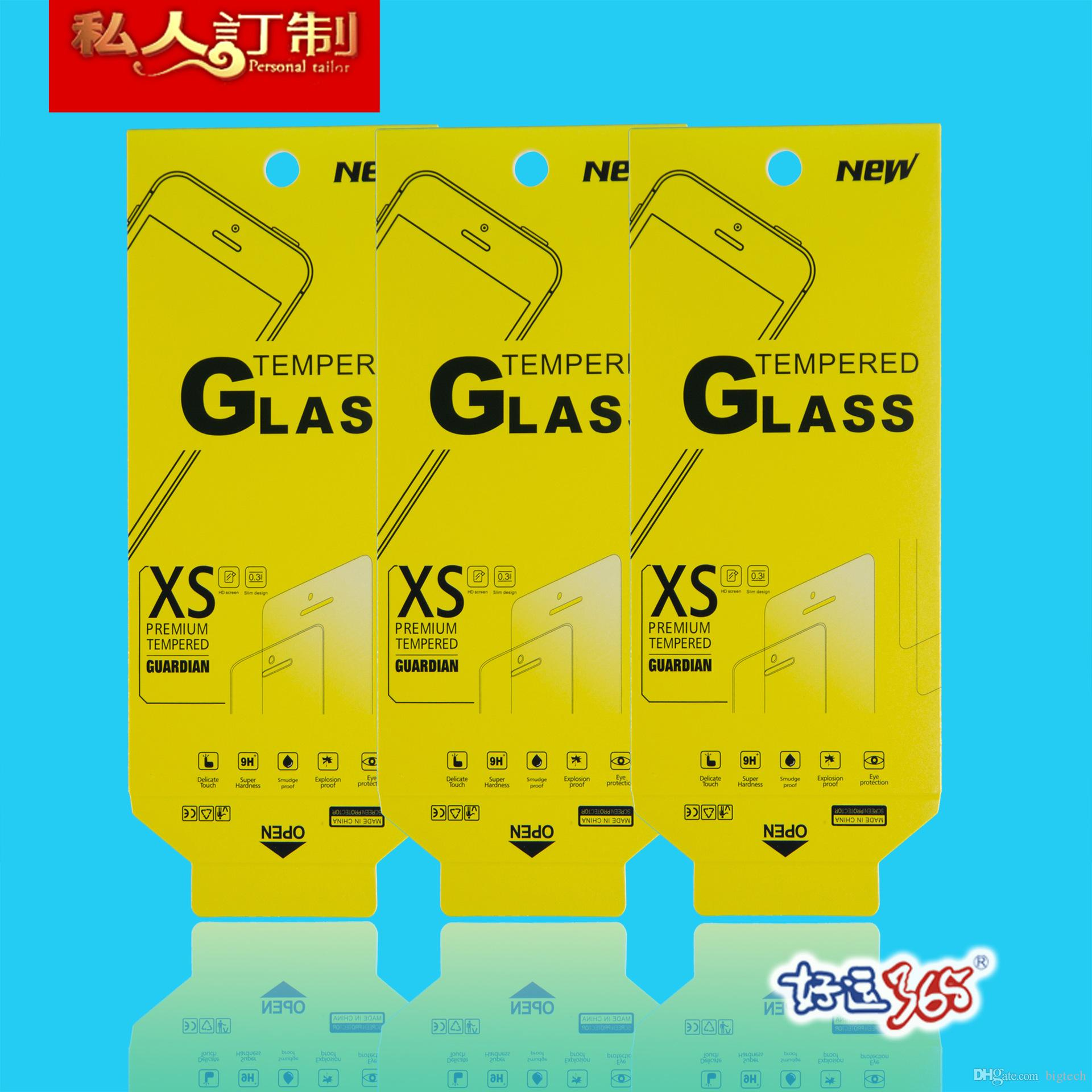 Tempered Glass Screen protector Retail Package box for iphone 5/6/6 plus samsung note4 note5 s5 6 just the packaging