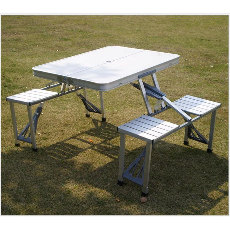 2018 new portable aluminum folding table and chairs outdoor table