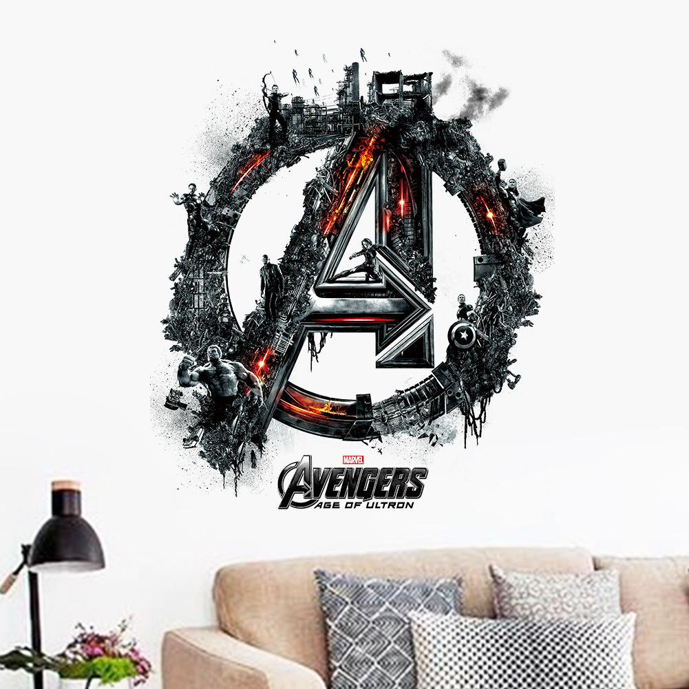 The avengers words art wall decals kids sticker removable room the avengers words art wall decals kids sticker removable room decor wallpaper super hero avengers logo wall mural poster decor music wall decals my wall amipublicfo Gallery