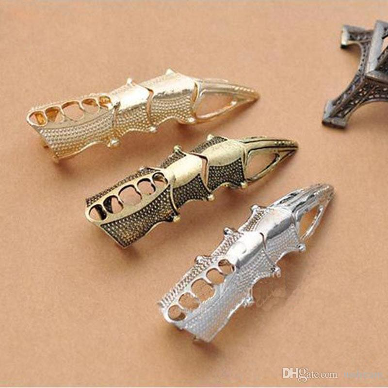 punk Eagle Claw finger Knuckle Ring gold bronze silver Armour long finger rings nail rings for women men hip hop statement jewelry 080060