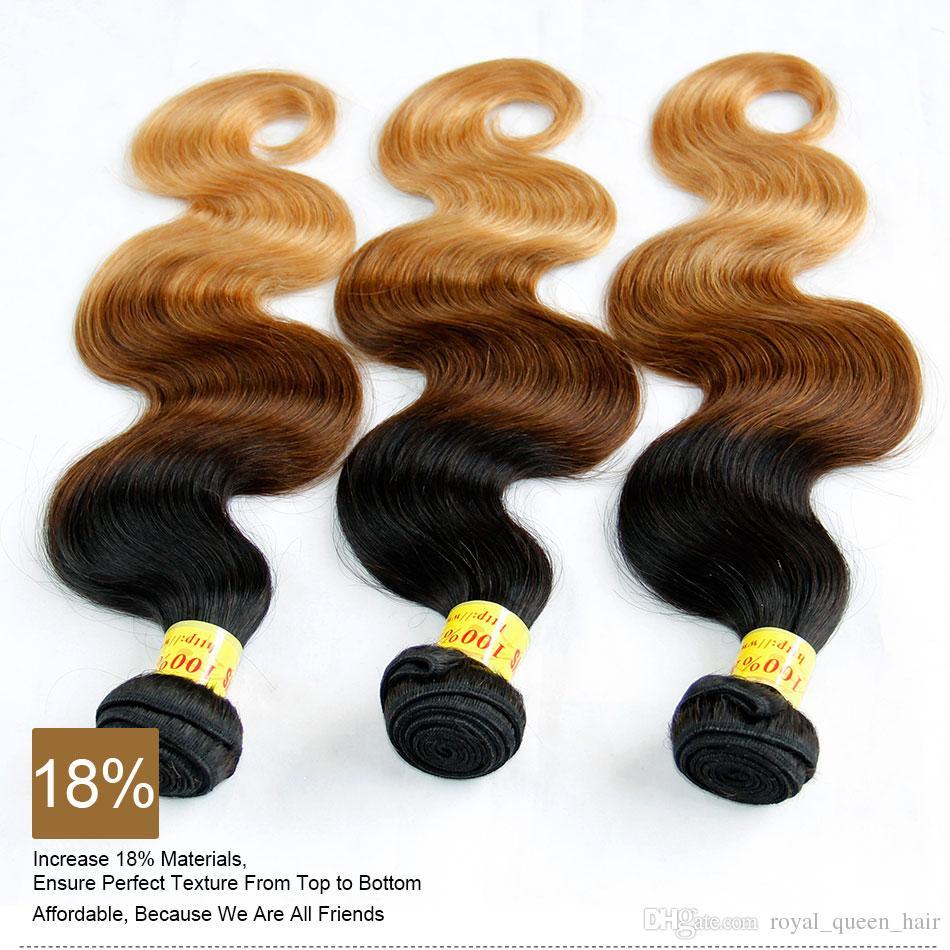 3 لهجة أومبير الماليزية العذراء الإنسان ملحقات الجسم موجة الجسم ثلاثة لهجة 1B / 4/27 # أسود بني شقراء أومبير الماليزية نسج الشعر حزم