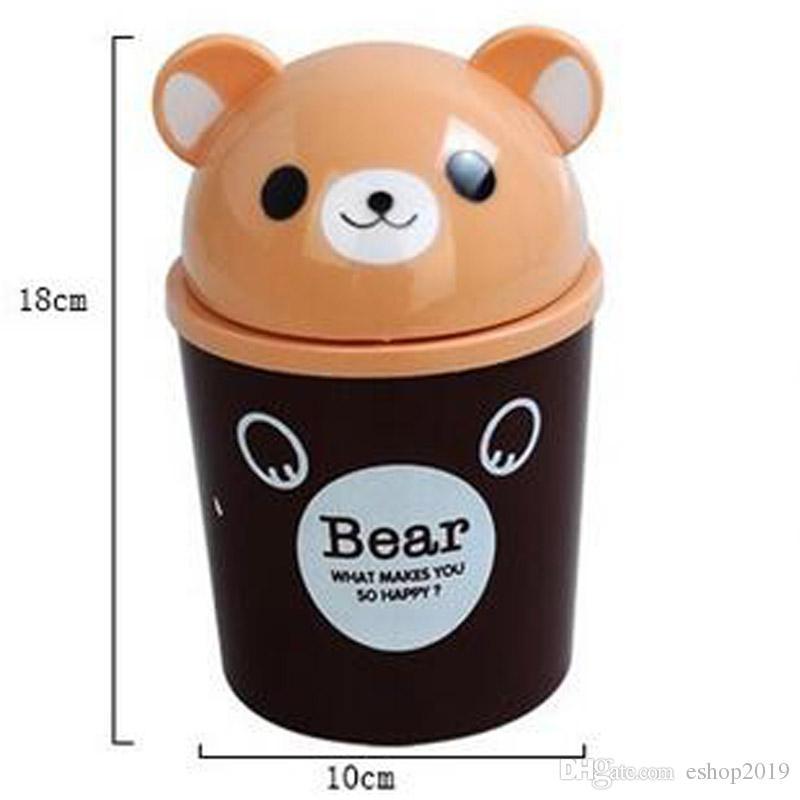 Cartoon Animal Plastic mini Table Dustbin/Sundries Barrel /Lovely Storage Tank/Cartoon animal Desktop trash can ash-bin garbage