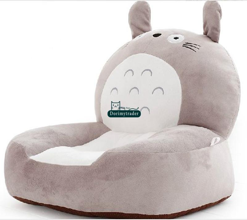 Dorimytrader Hot Item 54cm X 45cm X 30cm Stuffed Giant Plush Soft Stuffed Cartoon Totoro Sofa Tatami for Kids, DY60348