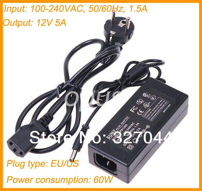 DC LED Power Supply Charger Transformer Adapter 12V 6A 110V 220V to 12V For RGB LED Strip 5050 3528 EU US Cord Plug Socket