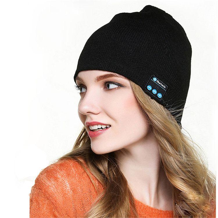 Bluetooth Hat Winter Cap Wireless Bluetooth Headphone Headset Earphone soft warm with stereo speaker hands-free Cradle