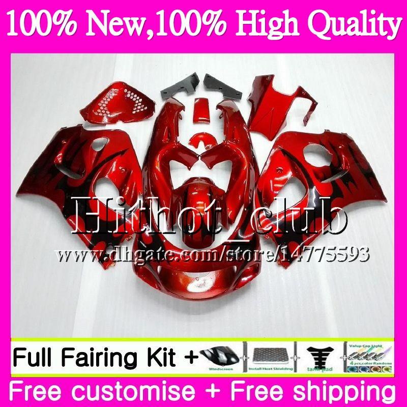 Body For SUZUKI SRAD GSXR 600 750 96 GSXR750 96 97 98 99 00 20HT22 GSX-R600 GSXR600 1996 1997 1998 1999 2000 Black flame Motorcycle Fairing