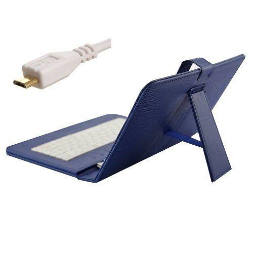유니버설 마이크로 USB 키보드 케이스 7 8 9 마이크로 OTG 케이블과 킥 스탠드 가죽 케이스 10.1 인치 안드로이드 태블릿 PC 중반