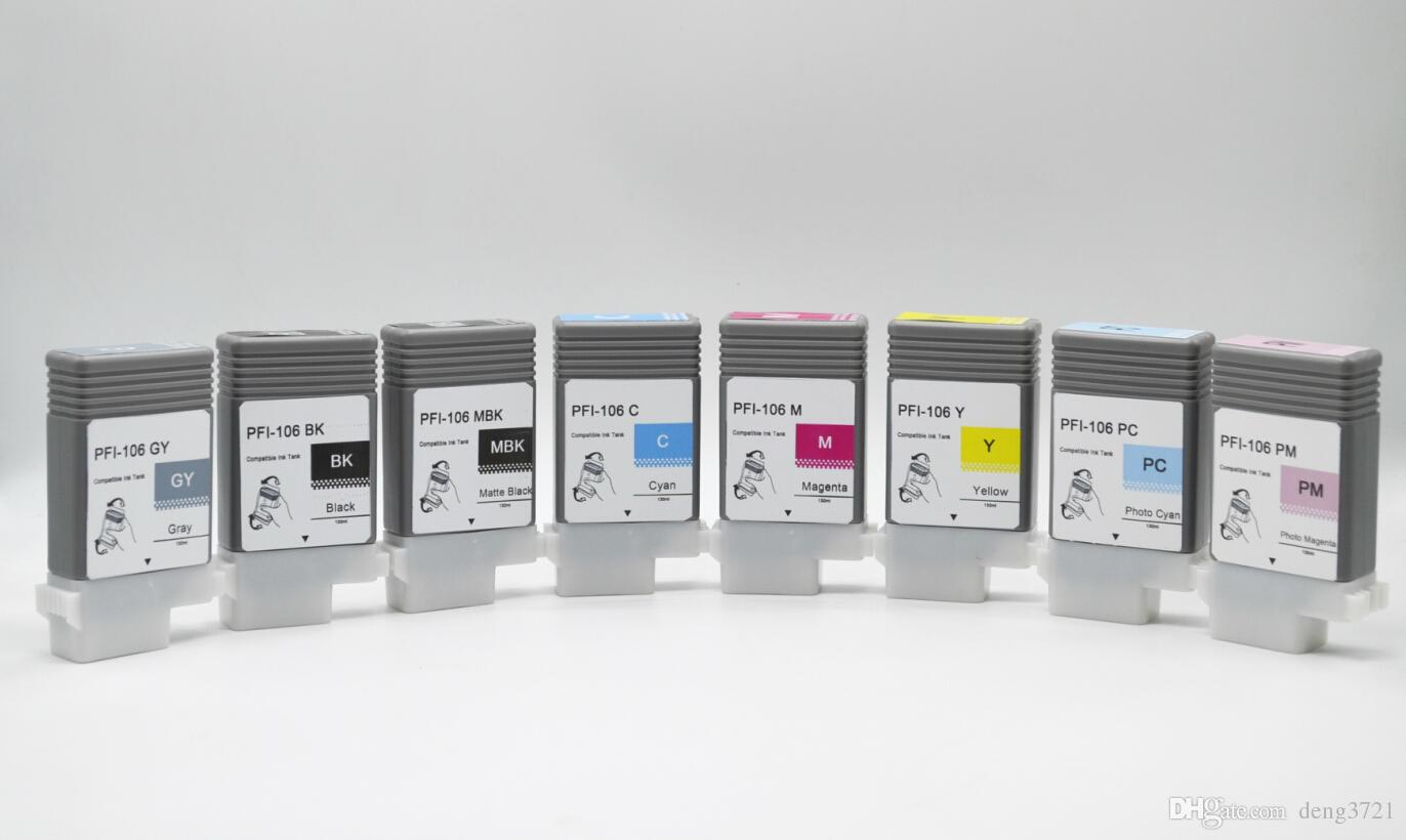 Kompatibel Plug and Play IPF6450 Tintenpatronen, PFI-106 12-Farben-Tintenbehälter für Canon ipf6400 ipf6450 etc Plotter