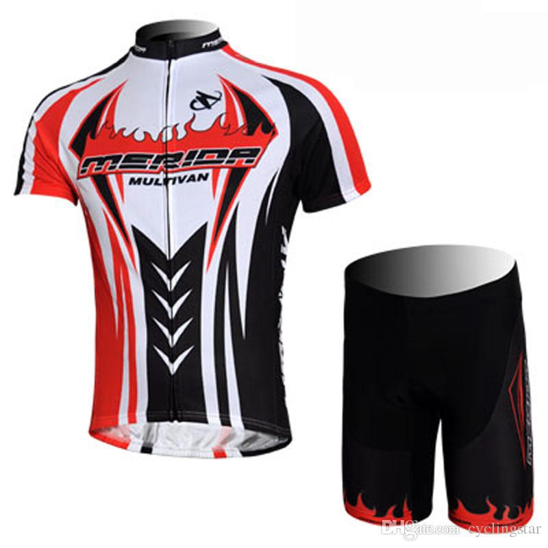 Pro Team Merida Cycling Jersey 100% Polyester Breathable Men Summer Cycling  Clothing Maillot Ciclismo  Quick Dry Mountain Bike Clothes M1102 Bike  Clothes ... cb291af02