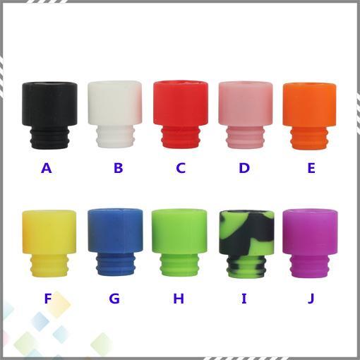 Bunte Einweg-Silikagel-Drip Tip Silikon 510 Mundstück Breite Bore E Zigarette fit RDA Atomizer Beste Qualität DHL geben