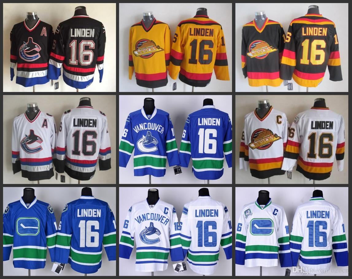 f73f9393a ... Blue Road Third 40th 2017 Vancouver Canucks Throwback 16 Trevor Linden  Jersey Hoc See larger image Buy Cheap NHL ...