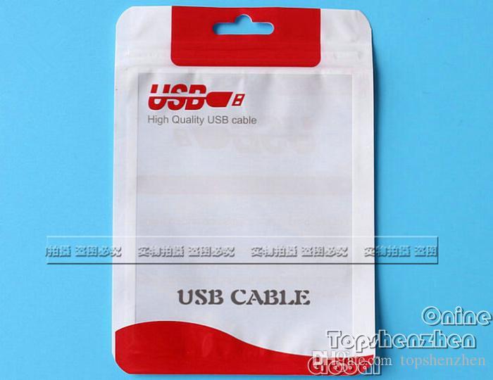 سستة التعبئة والتغليف حقيبة البلاستيك حزمة الحقيبة لشاحن سيارة مايكرو USB مزامنة كابل كابل الصوت سماعة ل فون الملحقات سومنج