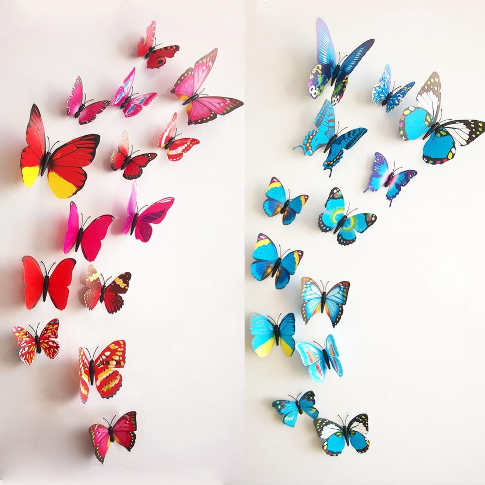 D Wall Stickers  Big  Small Pvc D Butterfly Tatoos Wall - Butterfly wall decals 3d