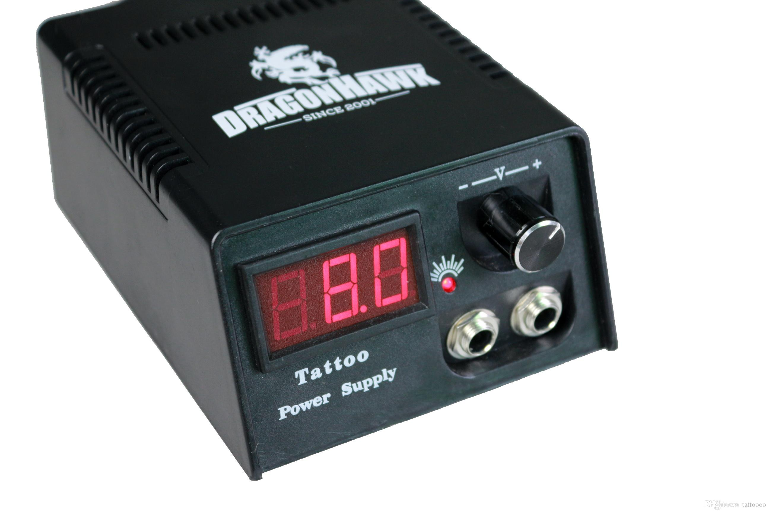 LCD Digital Dual Machine Tattoo Netzteil mit EU US Power Plug A ++ Qualität für Kits Guns Fußpedalclipkabel TNT Freies Verschiffen