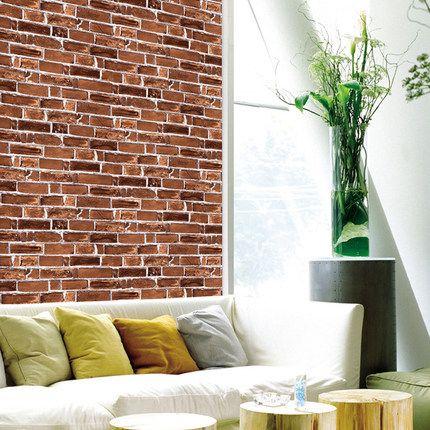 50cm50cm Brick Patterned Wallpaper Wall Stone Shape Pcv Wallpaper